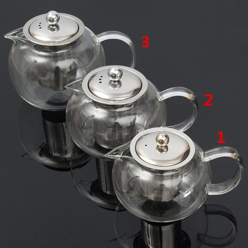 non-toxic pyrex clear glass teapot