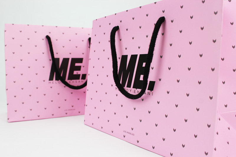 custom printed tote paper bag for clothing and accessories