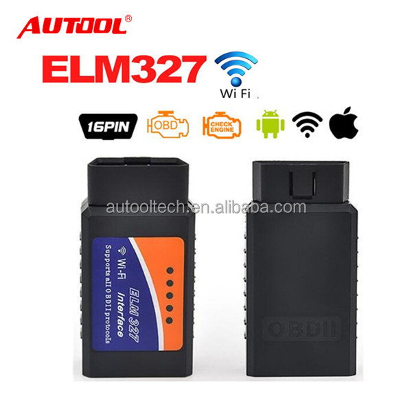 Free shipping Autool mini ELM327 WIFI V1.5 Software OBD2 Scanner for iPhone iPad iPod better than v2.1 ELM327