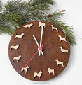 Lovely LED dog decorative wooden wall clock