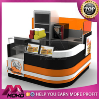 Modern 3d fresh fruit juice kiosk booth design with juice machine