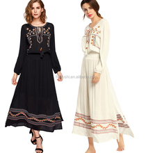 Guangzhou clothing bulk wholesale ladies tunic sexy african traditional dress long sleeve embroidery Maxi Dress women