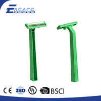 Wholesale Plastic Handle Green Barber Disposable Razor