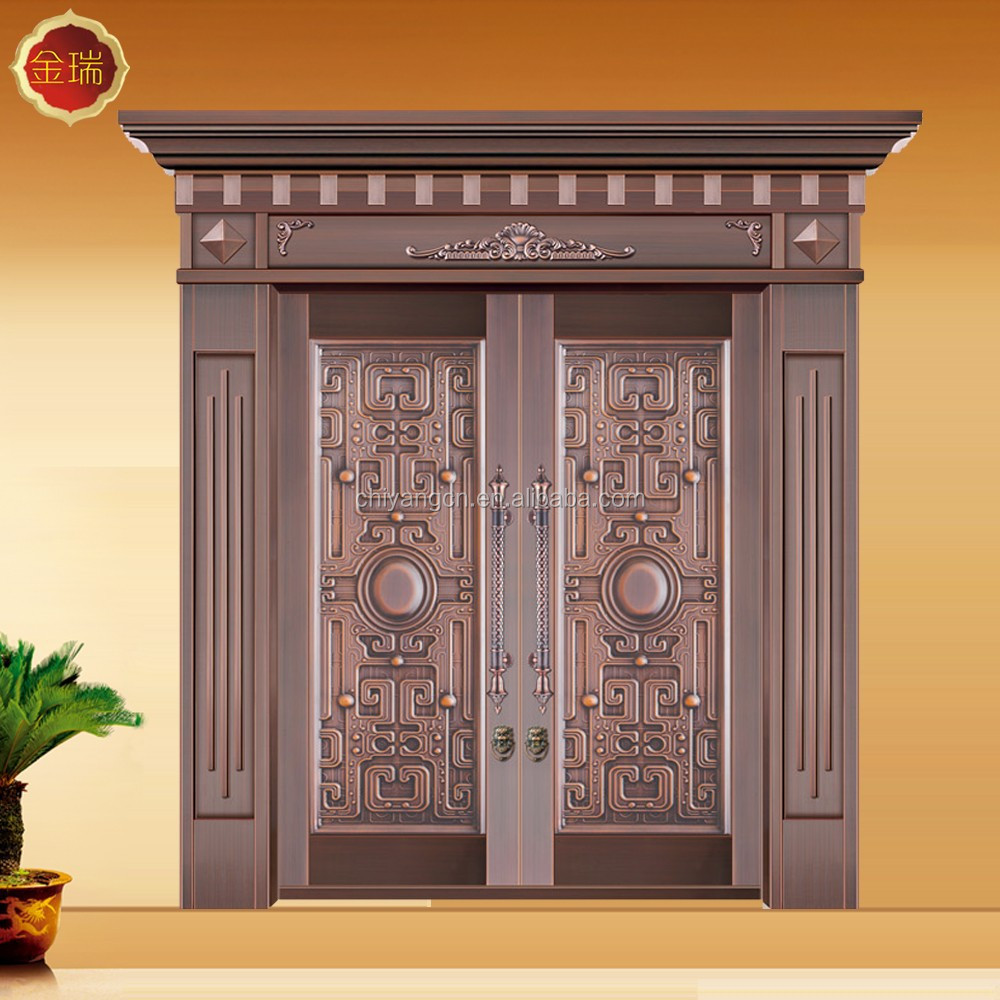 Embossing Style copper door for mansion