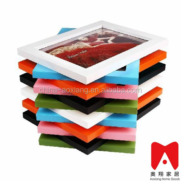 Other home decor type 4x6 5x7 6x8 8x10 bulk picture frames 8x10 Colourful Plastic cardboard picture frames wholesale