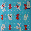 little blue cat printed flannel fabric