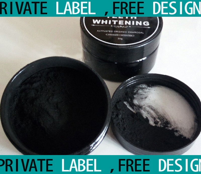 FREE DESIGN Label Mint Flavor 30g Charcoal Teeth Whitening Activated Powder