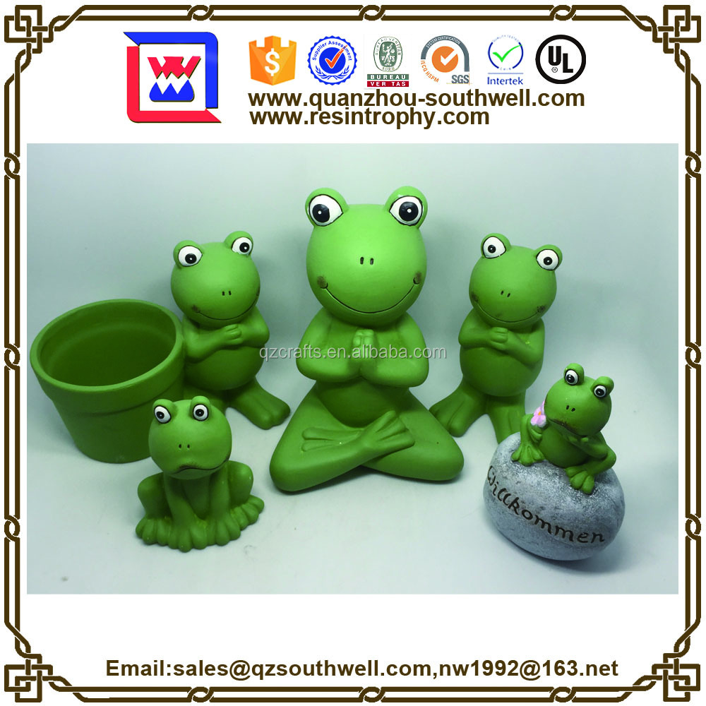 frog ornament for indoor outdoor decoration