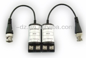 mini 1 channel passive connector 1 channel bnc balun Video balun
