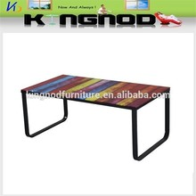 long glass narrow coffee table in good taste