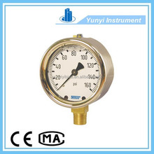 Stainless Steel Bourdon Tube Gas Pressure Gauge 213.40