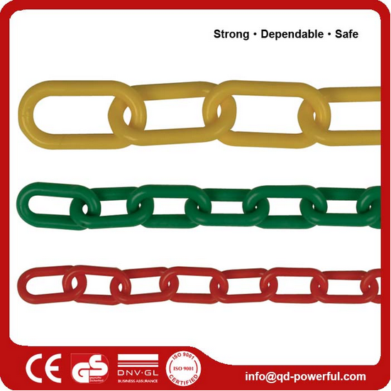Colored Decorative PP link coated plastic chain
