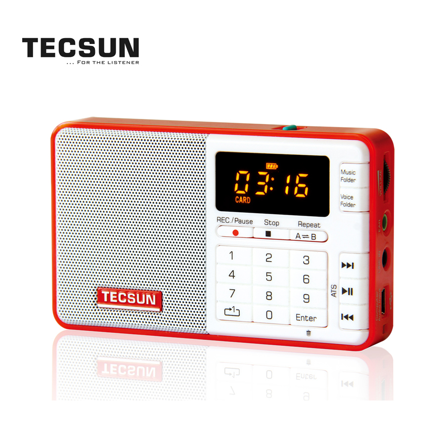 TECSUN Q3 FM Stereo Mini Pocket Radio Receiver with MP3 and Recording