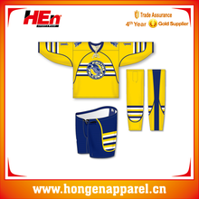 Custom Made Yellow Design Team Set USA Hockey Jersey