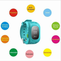 Best quality Emergency GPS Tracker Security Children Kids Smart Watch Q50 With SOS Phone Call lock/unlock