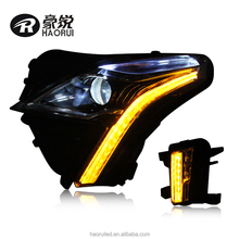 New Design LED Modified Cadillac XT5 Head Lamp Assembly High Quality Headlight Assembly for XT5 Water Flow with Fog Light