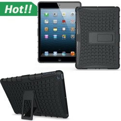 Black Hybrid Heavy Duty Shockproof Case Cover Stand For iPad Air 2 /6th