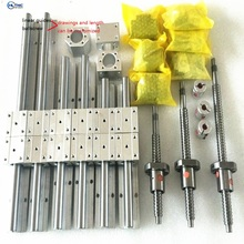 3ballscrews RM1605-350/950/1200mm +3linear railsSBR16-350/950/1200mm sets +3bk12bf12+<strong>3</strong> nut housing +<strong>3</strong> RB couplers for cnc millin