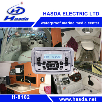 H-8102 Waterproof Marine square stereo Radio FM AM BT with big button