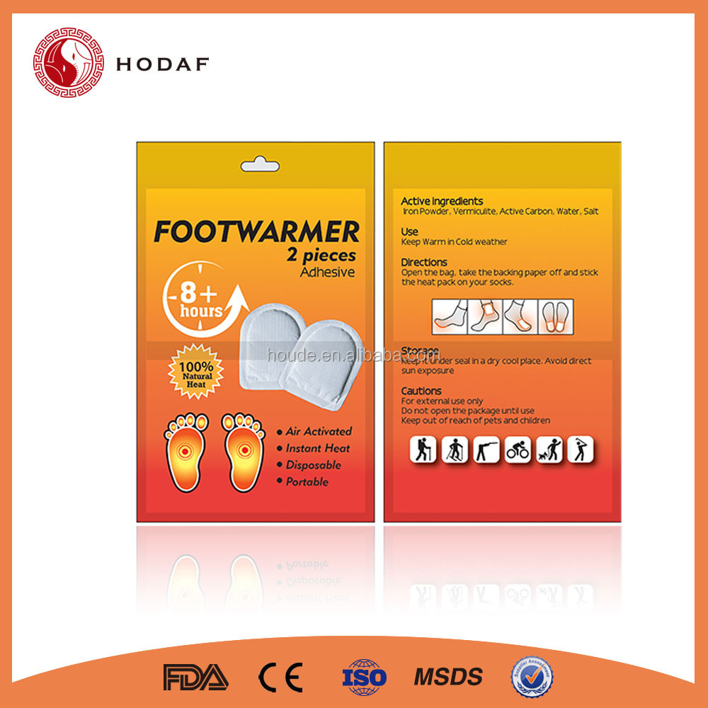 2015 newest product self heating shoes warmer heat pad with high quality patch