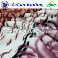 100%polyester printed flannel blanket fabric