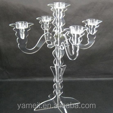 New arrival Acrylic chandelier candle holder