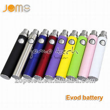 2014 hot ecig new products vaporizer pen color evod battery e vod vapor battery jomo Factory
