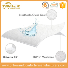 2017 new White Knitted fabric Waterproof mattress protector bedspread for 5 star hotel