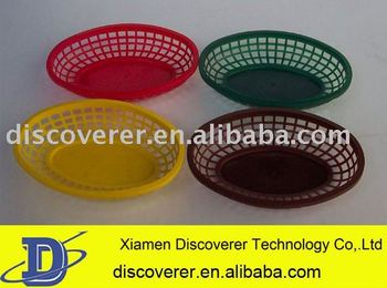 Custom made plastic injection tooling for colorful plastic basket products