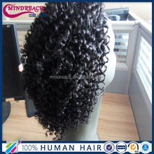 Fashion style Brazilian Virgin Kinky Curly Full Lace Wigs Best Natural Afro Kinky Curly Glueless Wigs For Black Women