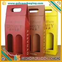 Top grade factory competitive price cardboard wine carrier box wholesale