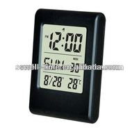 Cheap desk LCD clock with termperature S011A meet CE and Rohs best for gift