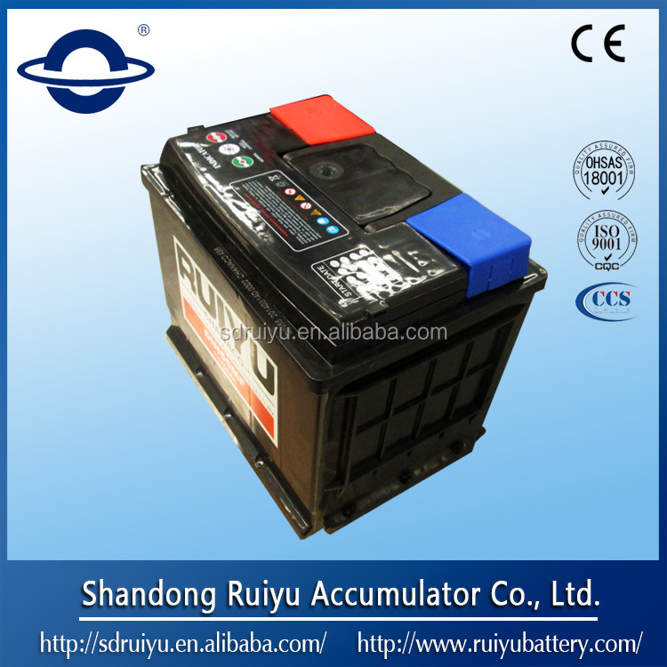 DIN72 12V72AH on automobiles/car/truck/boat car battery