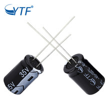 hot sale ytf aluminium electrolytic capacitor in tape measuring for sale 35V 1000uF 13*21