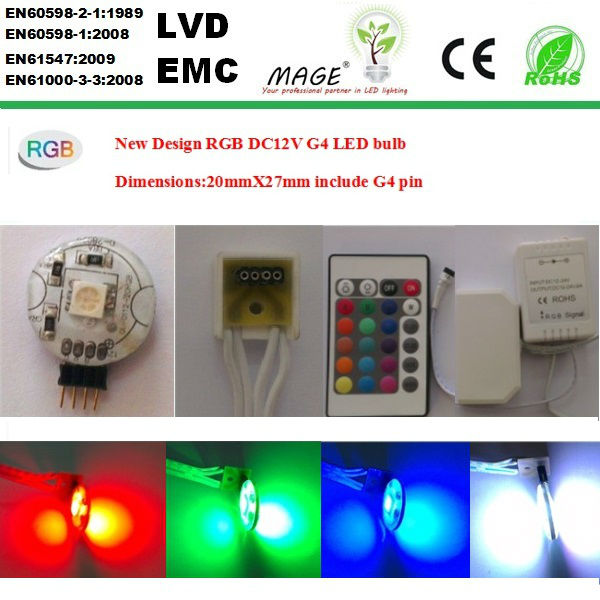 key RGB colour LED G4 lamps