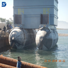 Anti-explosion used rubber pontoon Floats for shipyard Salvage Lifting Airbags