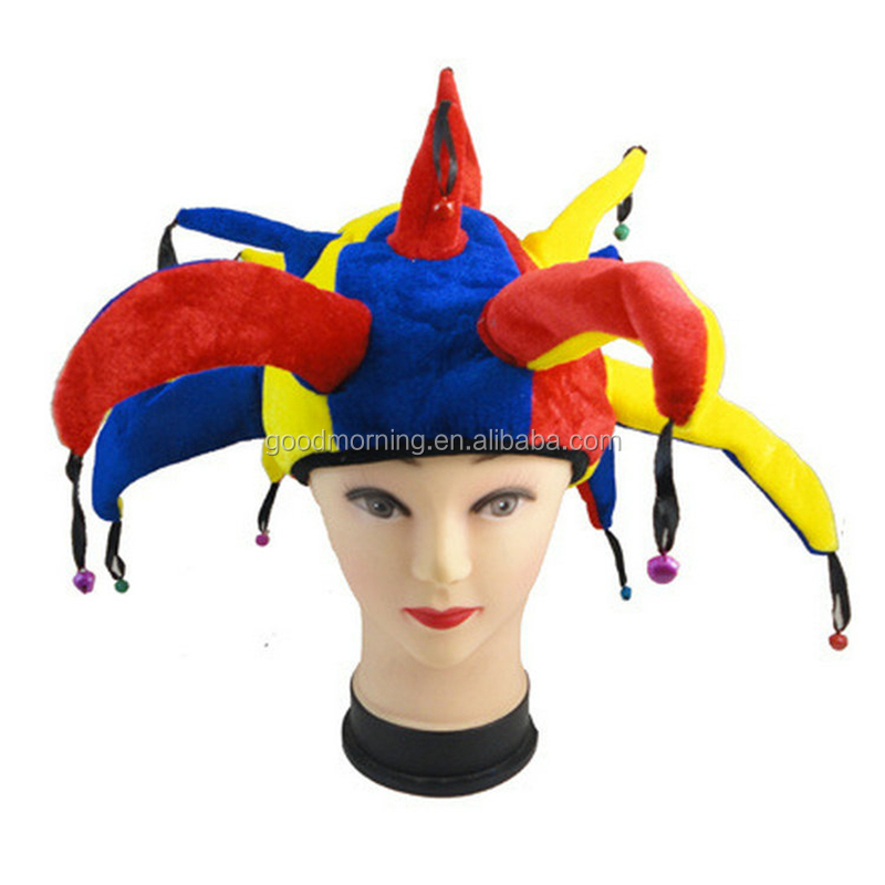 Circus Clown Hat Comic Party Supplies Halloween Accessories Costume Magic Dress Halloween Party Masquerade Decoration