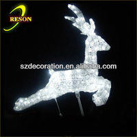 china outdoor christmas light up reindeer resin reindeer figurine