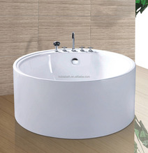 Factory sell round shape portable hot tub with chrome shower combo