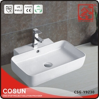 Cheap Bathroom Sink Lavatory With Overflow Hole Cover