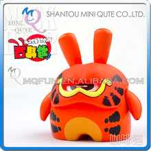Mini Qute Mask Bear 6.5cm Kawaii boy gift Garfield cat plastic Animal reloading action figure Cartoon toy car Decoration model