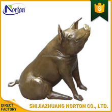 Large garden animal metal sculptures metal crafts bronze pig statues for sale NT--BS081A