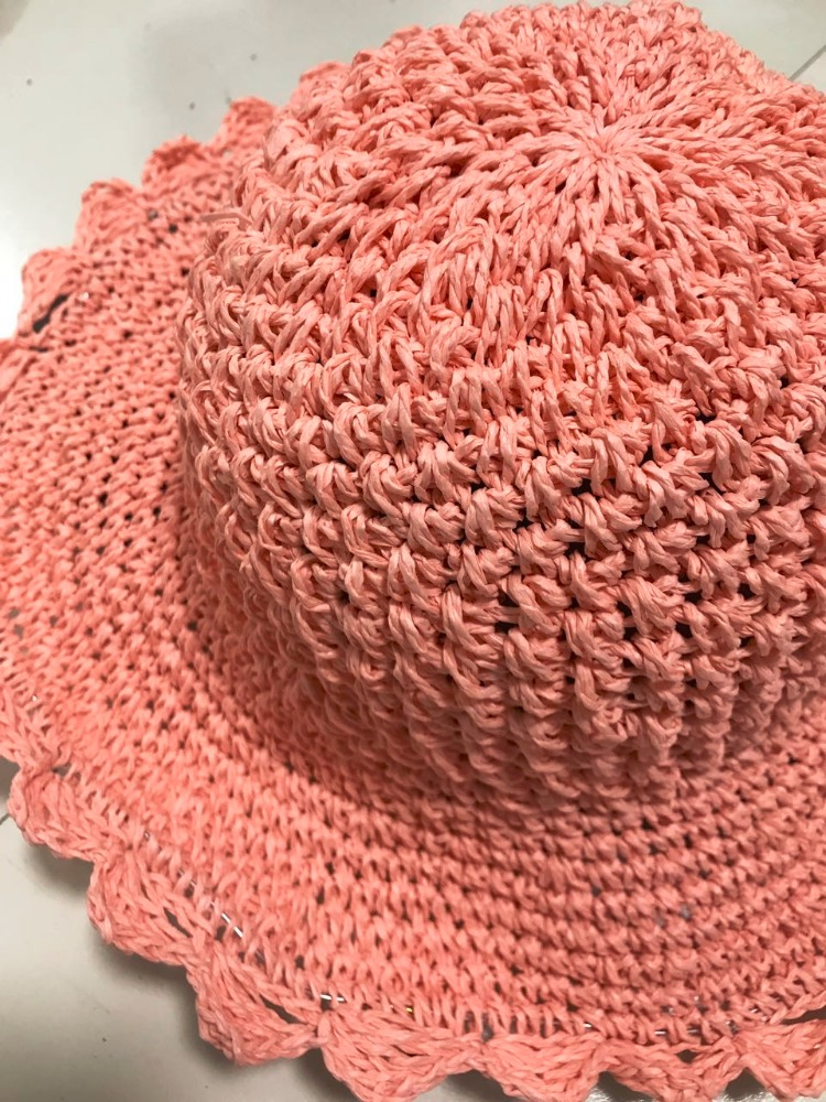 Knitted Straw Cap/Hat Women Paper Straw Hats