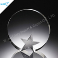 Round Crystal Plaque China Trophies Suppliers