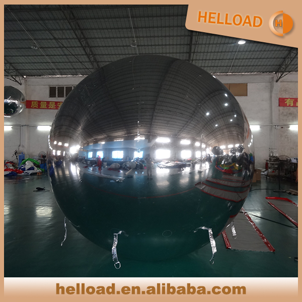 large mirror inflatable chrome balloon for club decoration
