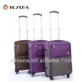 New Arrival Spacious Elegant Waterproof Nylon Travel Trolley Luggage