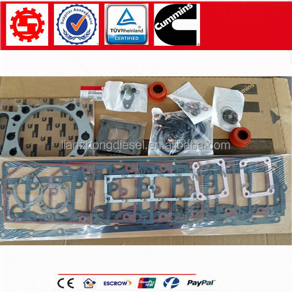 China Hot Sale Motor <strong>Cummins</strong> engine parts <strong>K19</strong> overhual gasket kit 3800727 / 3800728