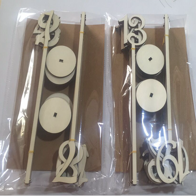 Gold Tall Wood Table Numbers