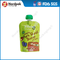Customized juice packaging pouch, liquid stand up pouch with spout pouch