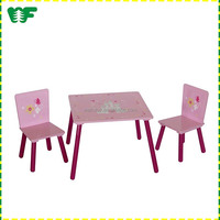 Cheap and high quality wooden school desk wooden children table and chair set